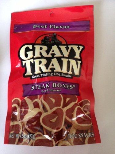 Gravy Train Steak Bones Beef Flavor Dog Snacks (Gravy Train Beef Flavor)