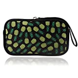 BRILA Coin purse – Large Capacity Multipurpose Waterproof Neoprene Carrying pouch bag case for cellphones, cash, cards, USB cables – Cute Pineapple design