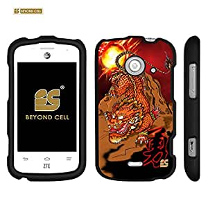 ZTE Prelude 2 Z667 /ZTE Zinger Z667/ ZTE Whirl 2 Z667G (AT&T,T-mobile,Straight Talk,Net 10)Beyond Cell ®Premium Protection Slim Light Weight 2 piece Snap On Non-Slip Matte Hard Shell Rubber Coated Rubberized Phone Case Cover With Design - Tidegon Design - Retail Packaging