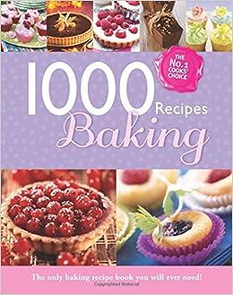 1000 recipes baking large format hardback book photo s and step