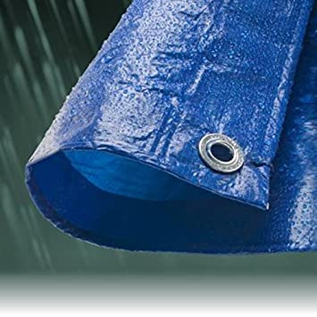 7.0M x 9.0M ECONOMY BLUE WATERPROOF TARPAULIN SHEET TARP COVER WITH EYELETS