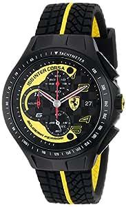 Ferrari Race Day 0830078 Reloj Negro Y Amarillo Correa