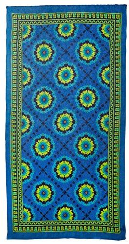 Theodora & Callum Women's Mediterranean Tile Scarf, Blue/Multi by Theodora & Callum