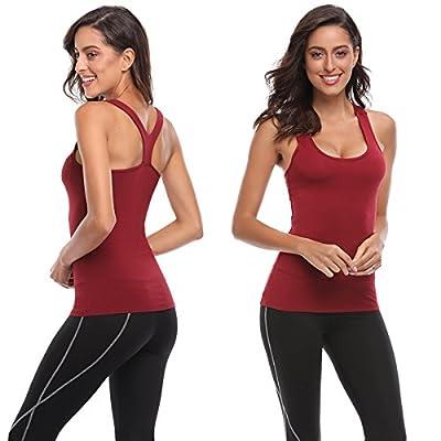 TELALEO Tank Tops Women, Womens V-Shape Workout Tank Tops Clothes Women Yoga Basic Running 3 Pack