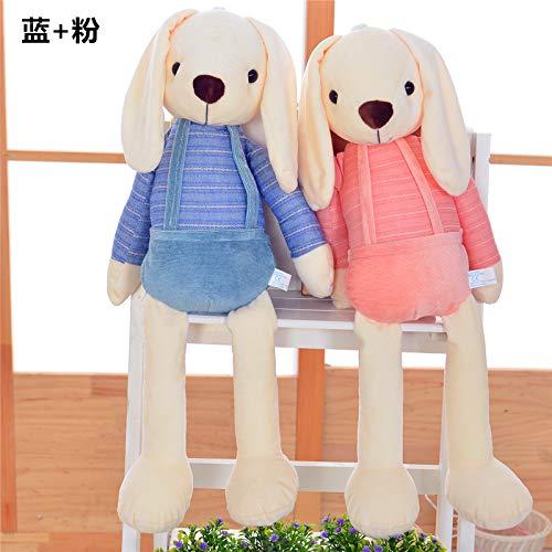 DONGER Hase Puppe Kind Puppe Puppe Puppe Valentinstag Kissen Weibliche Geburtstagsgeschenk Hochzeit Großes Spielzeug, EIN Paar (Pulver + Blau), 60 cm ac5a46