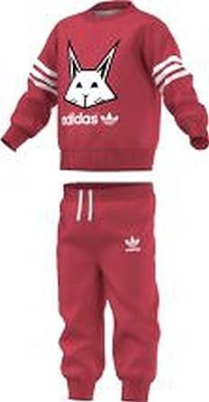 38256afb8 adidas Originals - Conjunto Deportivo - para bebé niña Rosa Rosa 9-12  Months  Amazon.es  Ropa y accesorios