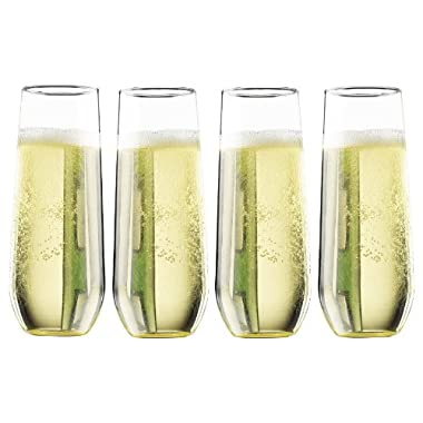 Pomponne  Stemless Champagne Party Flutes (Gift Box Set of 4)