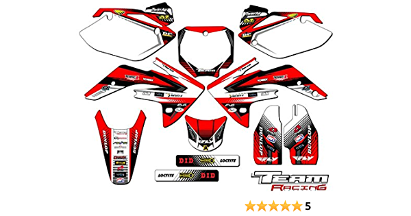 Senge Graphics Kit Compatible with Honda 2007-2020 CRF 150R Race Series Black Graphics kit