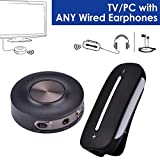 Avantree aptX Low Latency Wireless TV SET - Bluetooth Transmitter and Receiver, PLUG & PLAY, Bluetooth for Wired Headphones/Speakers, PC, Dual Link, VOIP, Bluetooth 4.2 - HT3187 [24M Warranty]
