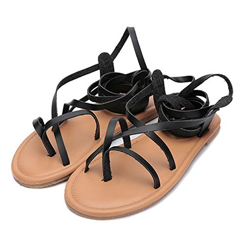 Ring Westbrook Summer Sandals Women Robert Thong Bandage Lace Boots Pu Gladiator Cut Strappy Heel Flat Clip Brown Out Toe Up Leather Otqppcwd