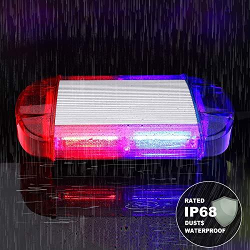 126 Luz Azul & rojo LED estroboscópica intermitentes para emergencia peligro advertencia vehículos de construcción luz minibar luz de advertencia luminosa con base magnética 9