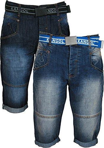 Kangol - Pantalón corto - para hombre Darkwash