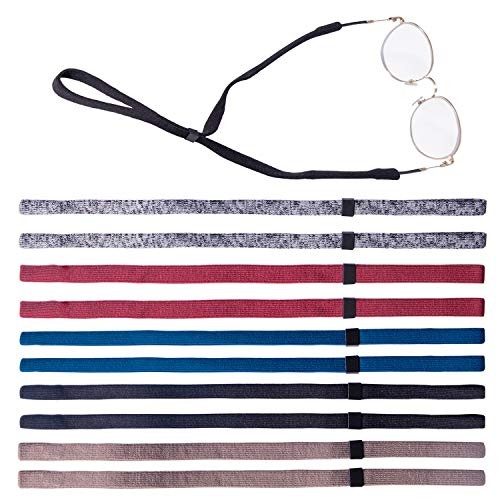(Leyaron 10 Pack Universal Eyewear Retainer Sports Sunglass Holder Straps, Safety Glasses Eyeglasses Neck Cord String Lanyard Strap (3 colors))