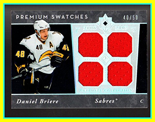 2006-07 Ultimate Collection Premium Swatches #PSDB Daniel Briere Danny GAME USED JERSEY SERIAL #40/50