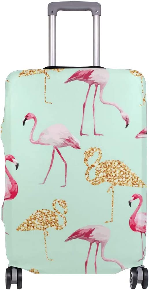 Nanmma Cute 3D Flamingo Pattern Luggage Protector Travel Luggage Cover Trolley Case Protective Cover Fits 18-32 Inch