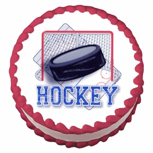 1/4 Sheet ~ Hockey Puck Birthday ~ Edible Image Cake/Cupcake Topper!!!
