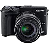 Canon EOS M3 Mirrorless Camera (Black) with EF-M 18-55mm f/3.5-5.6 IS STM Lens - International Version (No Warranty)