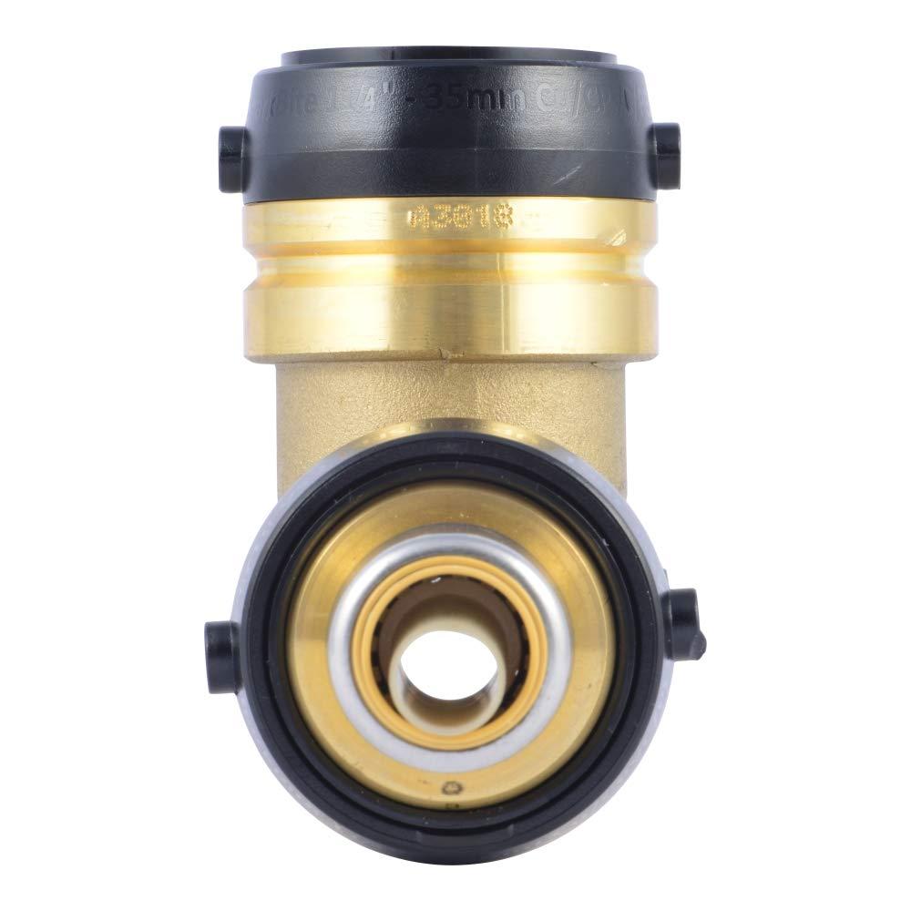 SharkBite UXL08351635 Reducing Tee 1-1//4 Brass