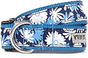 The Worthy Dog 21958-4209XL Flower Power Pattern Adjustable Designer Pet Dog Collar