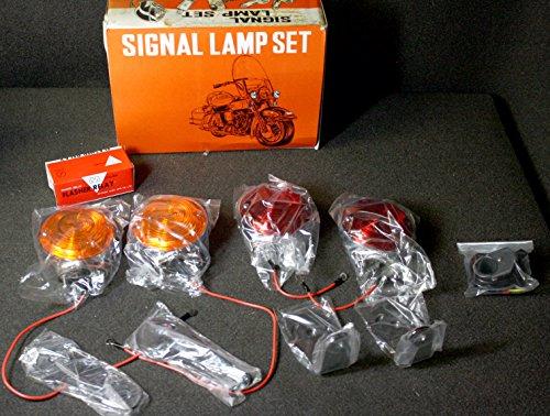 12V Motorcycle Turn Signal Kit 2 Red 2 Amber 4 Mounts Switch Flasher Unit HD12V