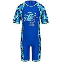 HUANQIUE Boys Swimsuits Rash Guard One Piece UPF50+ Swimwear