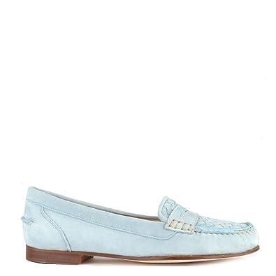 Elia B Zapatos Weave Mocasines de Ante, Mujer 41 EU Azul: Amazon.es: Zapatos y complementos