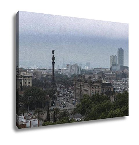 Ashley Canvas, Cloudy Day In City Center Of Barcelona Spain, Home Decoration Office, Ready to Hang, 20x25, AG6375472 by Ashley Canvas