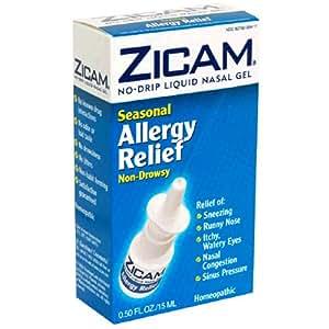Zicam No Drip Liquid Nasal Gel, Seasonal Allergy Relief, Non-Drowsy, 0.5 fl oz (15 ml)