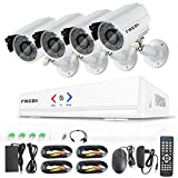 FREDI 4CH Security Camera System Full 960H DVR with 4x 800TVL Superior Night Vision IR Cut Leds indoor CCTV Camera (P2P Technology/E-Cloud Service,Without Hard Drive)