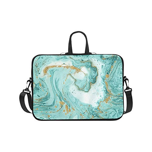 InterestPrint Abstract Turquoise and Golden Marble Stone 17