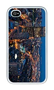 iPhone 4 Case,iPhone 4S Case,VUTTOO iPhone 4 Cover With Photo: Boston Massachusetts For Apple iPhone 4/4S - TPU White