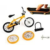 Stunt Finger Bike & Skateboard set with accessories [Toy]