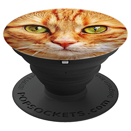(Orange Tabby Cat Face - PopSockets Grip and Stand for Phones and)