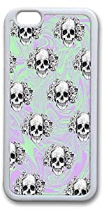 iPhone 6 Cases, Skulls Personalized Custom Soft TPU White Edge Case Cover for New iPhone 6 4.7 inch