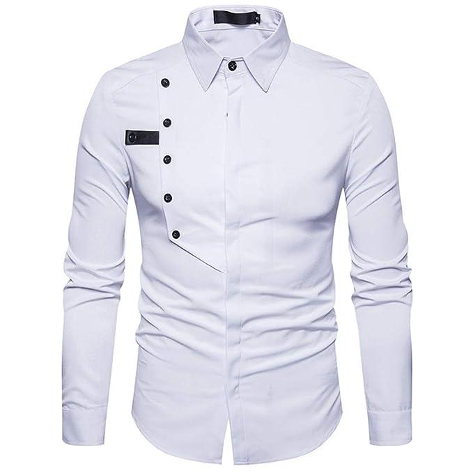 74b2c71844 ChallengE Camicia Uomo, Uomo Camicia Maglietta Slim Fit Elegante ...