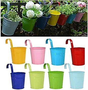 Hosaire Blumentopf Multicolor Metallhaken H/änget/öpfe Blumenk/übel f/ür H/ängen Balkon Garten pflanzer Home Decor,Greun