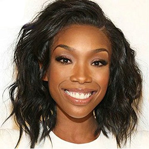 Ten Chopstics Wig Cheap Curly Short Human Hair Wigs for Black Women 8 Inches Bob Wig Glueless Lace Front Wigs with Baby Hair Side Part 100% Unprocessed Brazilian Hair Wigs for African Aericans by Ten Chopstics