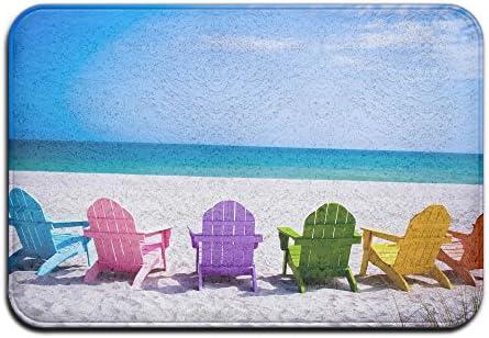 DIYABCD Verano Playa sillas de Colores Felpudo Antideslizante para casa jardín Puerta Alfombra Felpudo Piso Almohadillas: Amazon.es: Jardín