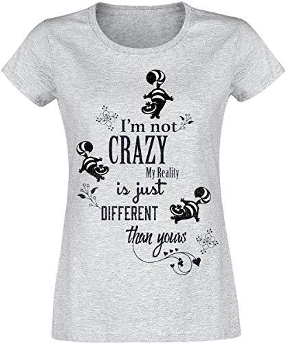 Camiseta Crazy Chesire Maravillas País I'm Gris El Las En De Alicia melé Gato Not fyPpwFqq1