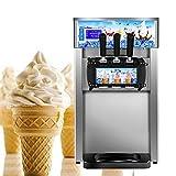 Commercial Ice Cream Machine, 110V / 60Hz 1200W Low Power Small Desktop Soft Ice Cream Making Machine US Plug(Without Refrigerant)