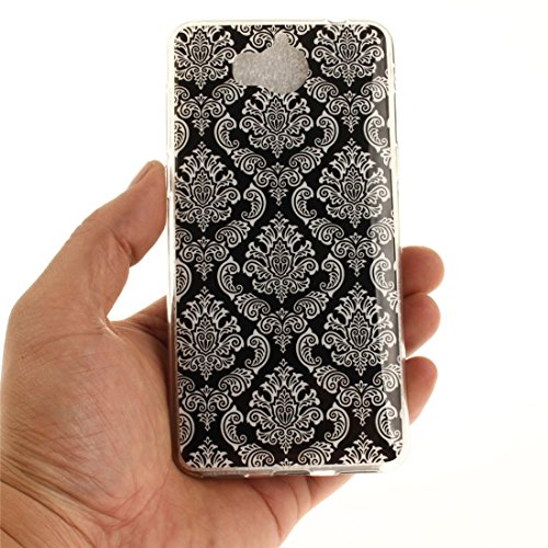 Couverture En Téléphone Y5 Silicone 2017 Scratch Huawei 2017 Hozor Peint Souple Cas Résistant Slim Y6 De Motif Retro De Arrière Cas Antichoc Bord Fit art TPU Protection Transparent 75wv1xq
