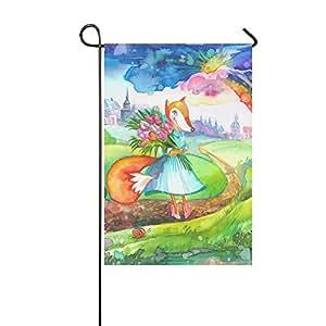 """Bandera de jardín de poliéster con tulipanes para niña, diseño con texto en inglés """"Tulips"""", 30,5 x 45,7 cm, diseño de otoño"""