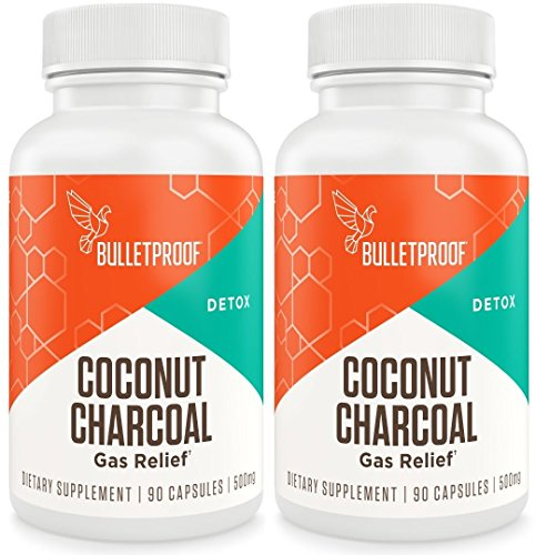 Bulletproof Upgraded Coconut Charcoal Capsules - 90 Ct.(500 mg) (Pack of 2) by Bulletproof (Image #1)