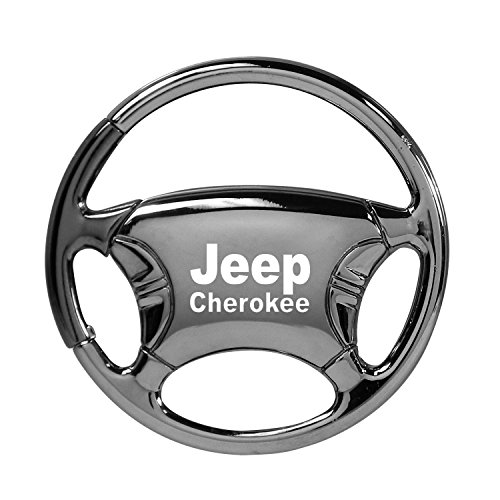 Jeep Cherokee Black Chrome Steering Wheel Key Chain