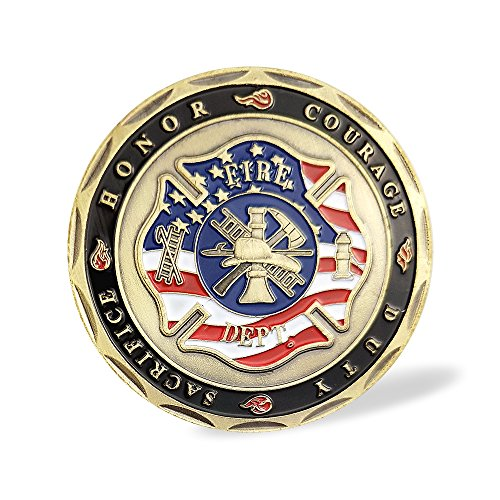 Saint Florian Firefighters Prayer Challenge Coin hot sale