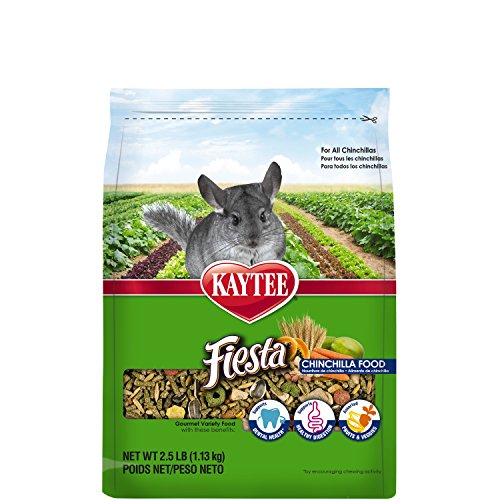 Kaytee Fiesta Chinchilla Food, 2.5-lb bag (Food Kaytee Chinchilla)
