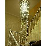 Getop Modern LED K9 Crystal Chandelier Double Spiral  quot;Rain Drop quot; Chandeliers Lighting Crys