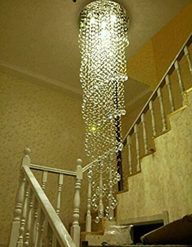 Getop modern led k9 crystal chandelier double spiral rain drop getop modern led k9 crystal chandelier double spiral quotrain dropquot chandeliers lighting crystal aloadofball Choice Image