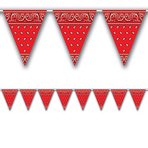 Bandana Pennant Banner Party Accessory (Value (Banner Party Accessory)