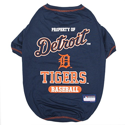 MLB Detroit Tigers Dog T-Shirt, X-Large. - Licensed Shirt for Pets Team Colored with Team Logos